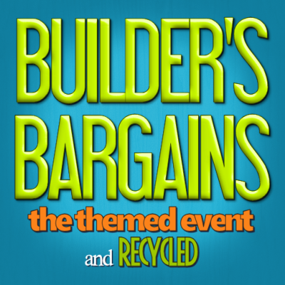 Builder's Bargains Logo with themed and recycled