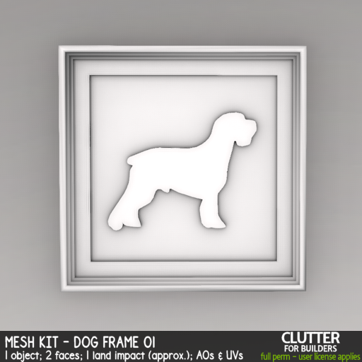 Clutter - Mesh Kit - Dog Frame 01 - ad
