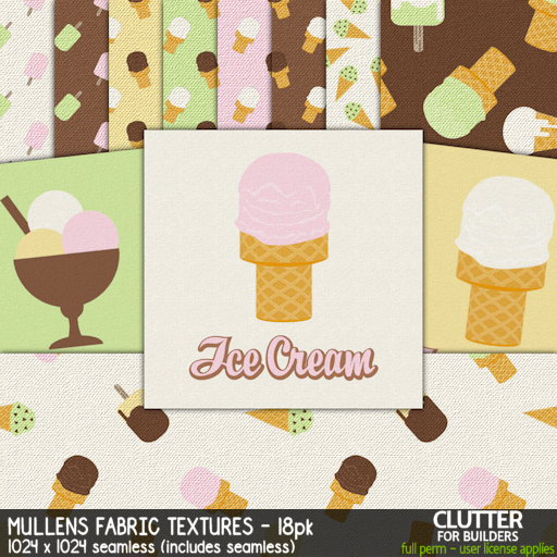 Clutter - Mullens Fabric Textures - 18PK - ad