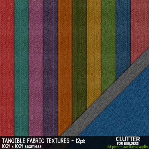 Clutter - Tangible Fabric Textures - 12PK - ad