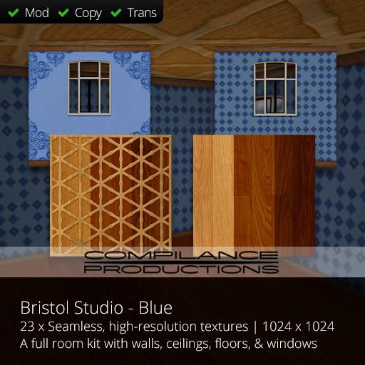 Compilance Bristol Studio Room Texture Pack - Blue