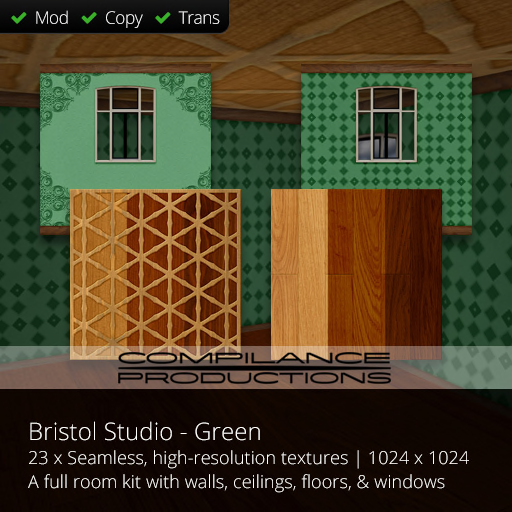Compilance Bristol Studio Room Texture Pack - Green