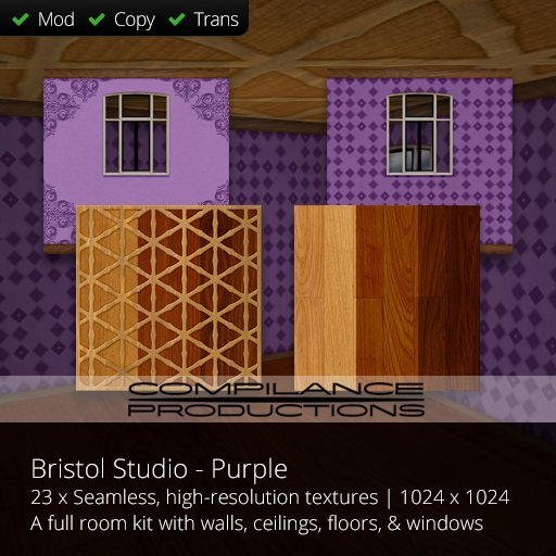 Compilance Bristol Studio Room Texture Pack - Purple