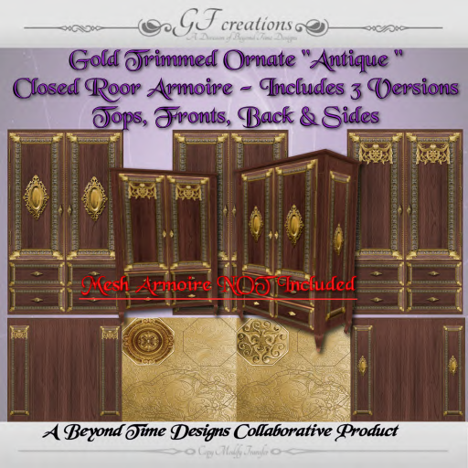 GFC-Ornate Gold Trimmed Closed Door Armiore-Set 9-Ad