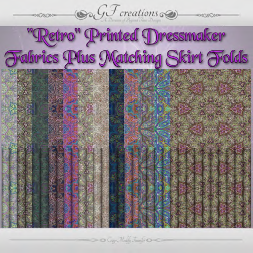 GFC-Retro Printed Dressmaker Fabrics + Skirt Folds - Ad