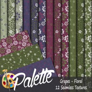 Palette - Grapes Floral Ad