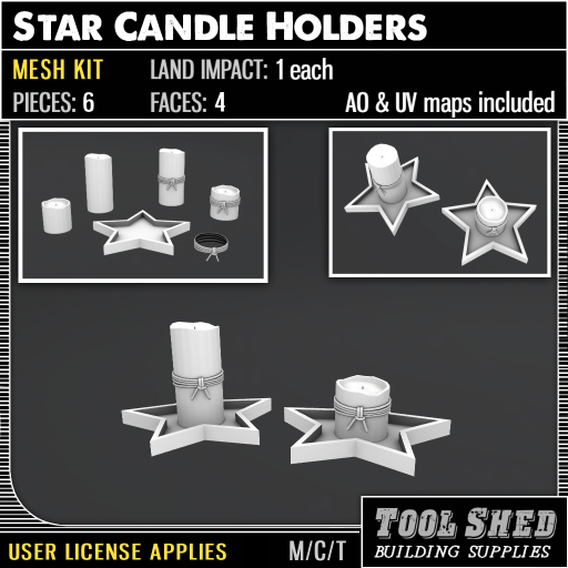 Tool Shed - Star Candle Holders Mesh Kit Ad