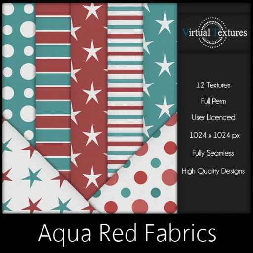 [VT] Aqua Red Fabrics