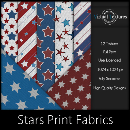 [VT] Stars Print Fabrics