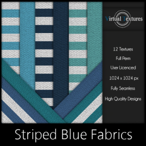 [VT] Striped Blue Fabrics