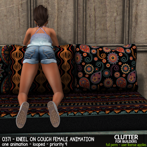 Clutter - 0371 - Kneel on Couch Female Animation - ad