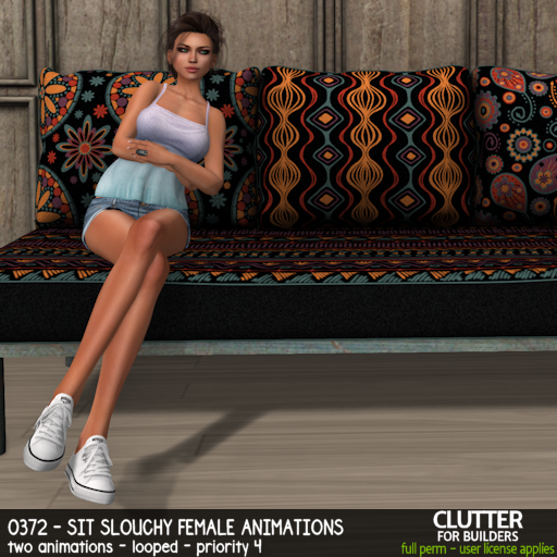 Clutter - 0372 - Sit Slouchy Female Animations - ad