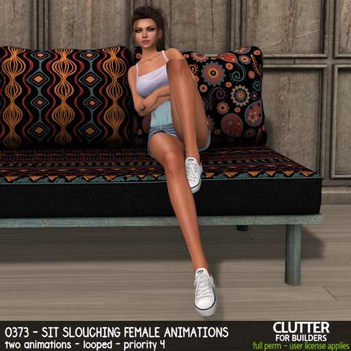 Clutter - 0373 - Sit Slouching Female Animations - ad