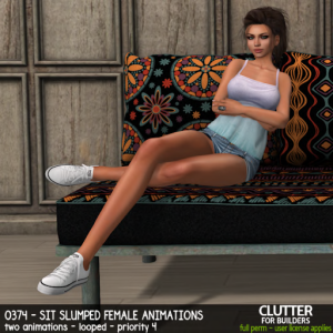 Clutter - 0374 - Sit Slumped Female Animations - ad
