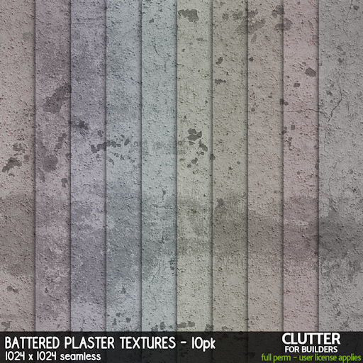 Clutter - Battered Plaster Textures - 10PK - ad