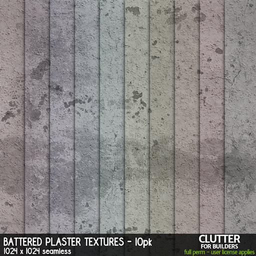 Clutter - Battered Plaster Textures - 10PK - ad
