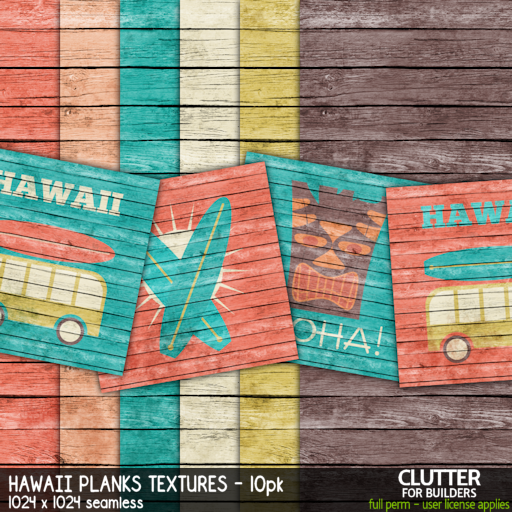 Clutter - Hawaii Planks Textures - 10PK - ad