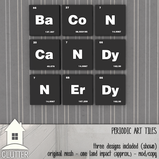 Clutter Home - Periodic Art Tiles - ad