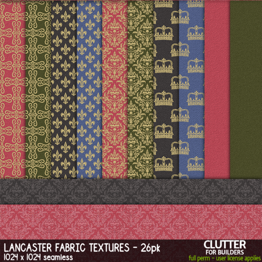 Clutter - Lancaster Fabric Textures - 26PK - ad