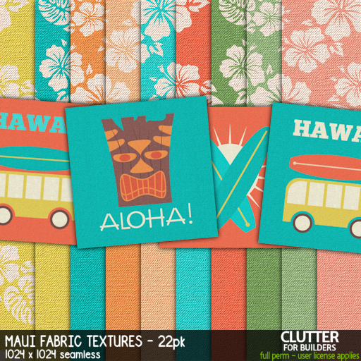Clutter - Maui Fabric Textures - 22PK - ad