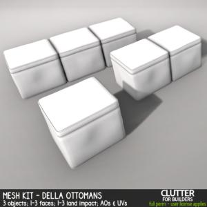 Clutter - Mesh Kit - Della Ottomans - ad