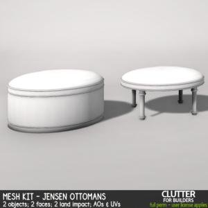 Clutter - Mesh Kit - Jensen Ottomans - ad