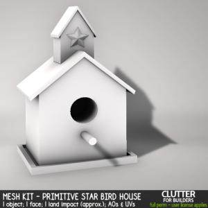 Clutter - Mesh Kit - Primitive Star Bird House - ad
