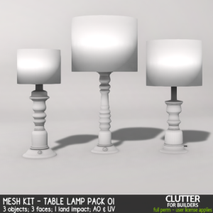 Clutter - Mesh Kit - Table Lamp Pack 01 - ad