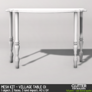 Clutter - Mesh Kit - Village Table 01 - ad