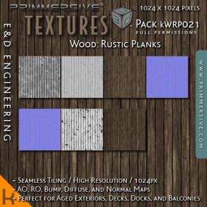 E&D ENGINEERING_ kits - Wood Rustic Planks kWRP021_