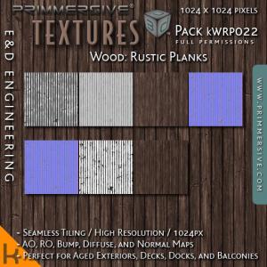 E&D ENGINEERING_ kits - Wood Rustic Planks kWRP022_