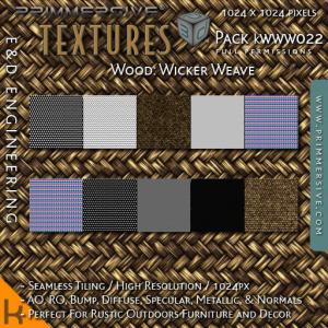 E&D ENGINEERING_ kits - Wood Wicker Weave kWWW022_