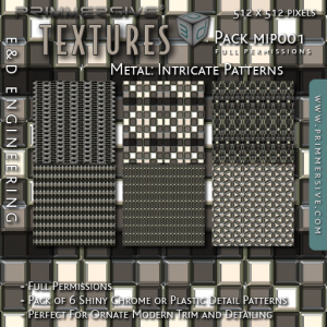 E&D ENGINEERING_ Textures - Metal Intricate Patterns MIP001_