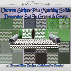 GFC-Chevron Stripes Decorator Set - Ad