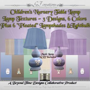 GFC-Childrens Nursery Table Lamp - Ad