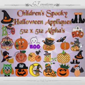 GFC-Childrens Spooky Halloween Appliques - Ad