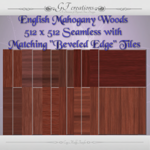 GFC-English Mahogany Woods with Beveled Edge Tiles-Ad