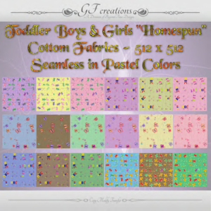 GFC-Toddler Homespun Cottom Fabrics - Ad
