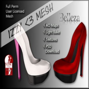 Izzy _3 Mesh - High Pumps for Slink & Belleza