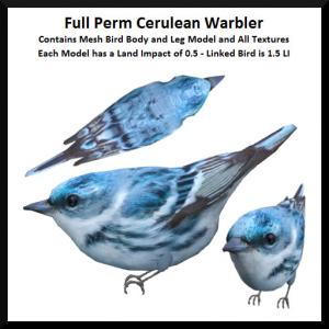 Lunar Seasonal Designs FP - Cerulean Warbler Ad