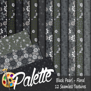 Palette - Black Pearl Floral Ad