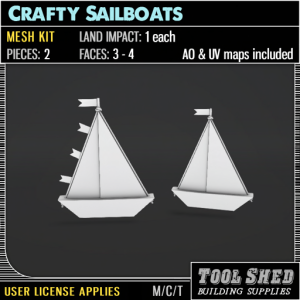 Tool Shed - Crafty Sailboats Mesh Kit Ad