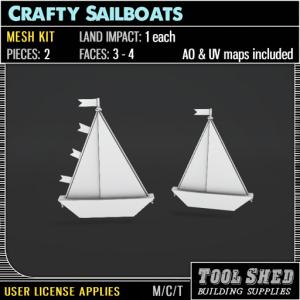 Tool Shed - Crafty Sailboats Mesh Kit Ad