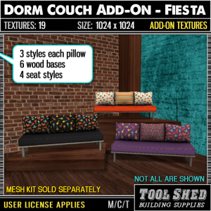 Tool Shed - Dorm Couch Add-On - Fiesta Ad