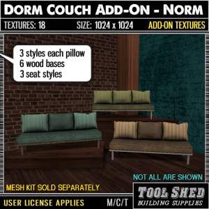 Tool Shed - Dorm Couch Add-On - Norm Ad