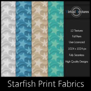 [VT] Starfish Print Fabrics