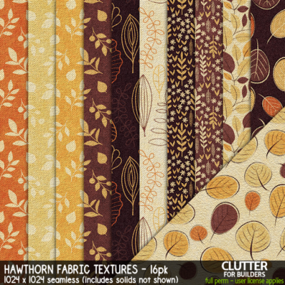 Clutter - Hawthorn Fabric Textures - 16PK - ad FEAT