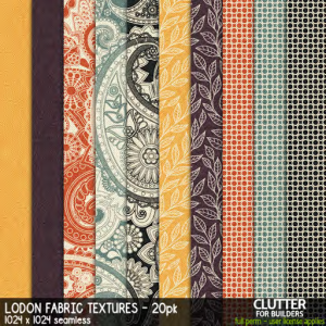 Clutter - Lodon Fabric Textures - 20PK - ad