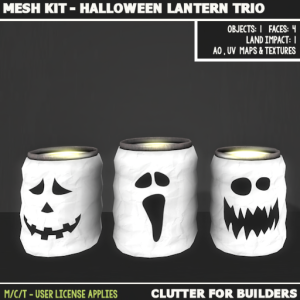 Clutter - Mesh Kit - Halloween Lantern Trio - ad