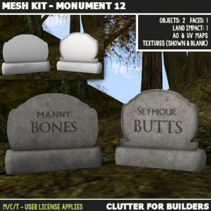 Clutter - Mesh Kit - Monuments 12 - ad